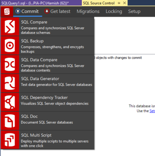 Redgate SSMS Where is SQL TEST